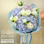 ช่อดอกไม้ แสดงความยินดี โทนสีม่วงพาสเทล (M)
