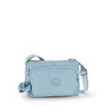 Kipling Reth Pastel Blue C กระเป๋าสะพาย หลายช่องซิป จุมาก น่าใช้ ขนาด 27 L x 17.5 H x 15 W cm