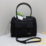 Kipling Martissa Black Tessel กระเป๋าสะพายไหล่ มีสายสะพายยาว รุ่นนี้ดูหรูมาก ขนาด L14 x H 9.75 x D 7.5 นิ้ว