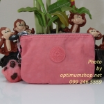 Kipling Creativity S Shell Pink กระเป๋าเอนกประประสงค์ขนาดเล็ก 3 ช่อง + 2ช่องเล็ก ขนาด 14.5 x 9.5 x5 cm