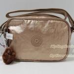 Kipling Dee II Copper Metalic กระเป๋าสะพายน่ารัก ขนาด L7.5 x H 5 X 2.75 นิ้ว
