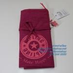 Kipling New Hip hurray Strawberry Pink กระเป๋าถือหรือสะพายขึ้นไหล่ ขนาด 40 x 44.5 x 1 cm
