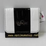 Kipling Thad Black & White Combo กระเป๋าสตางพับ 3 ตอน ขนาด 4.25 x 3.75 x 1 นิ้ว