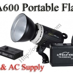 TA600 Portable Double Power Studio Strobe Flash Light 600Ws