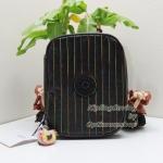 Kipling Nolan Lacquer Black Rainbow Stitch กระเป๋าใส่เครื่องเขียน แปรงแต่งหน้า หรืออุปกรณ์มือถือ ขนาด L 7.75 x H 5.75 x D 1.5 นิ้วm