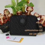 Kipling New Money Plover Black เป็นกระเป๋าสตางค์ ขนาดกระชับมือ ขนาด 10 L x 18.5 H x 3.5 W cm
