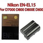 OEM Battery for Nikon EN-EL15 D7200 D7100 D810 D800 D800E D600 แบตเตอรี่กล้อง