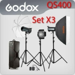 QS400 Set 400W X3 Professional Flash Godox Studio Kit ชุดแฟลชสตูดิโอ