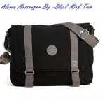 Clearance Kipling Aleron Black Mink Trim กระเป๋าสะพายใบใหญ่ ใบนี้เล่นสีที่เส้นสาย เท่ห์มาก ขนาด L15 x H 11.75 x D 5 นิ้ว