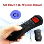 SD Wireless Timer Remote Time Lapse C8 For Canon 50D/40D/7D/1D/5D Mark II III