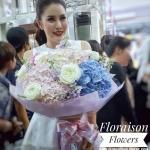 ช่อดอกไม้แสดงความยินดี พาสเทล (XL)