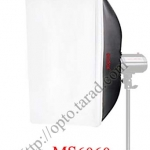 MS6060 Universal Mount, Softbox for mini studio flash 60x60CM