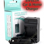 Home + CarBattery Charger For Nikon EN-EL14