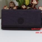 Kipling Brownie Dark Auberg กระเป๋าสตางค์ใบยาว ขนาด 19 L x 10 H x 3 W cm