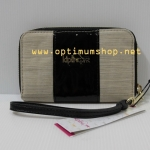 Kipling Essa Black Dazzing Beige Combo กระเป๋าสตางค์แบบซิปรอบพร้อมคล้องมือ ขนาด L5.5*3.75*0.75 นิ้ว