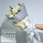 ช่อดอกไม้ กุหลาบขาว เรียบหรู ไซส์ L