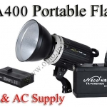 TA400 Portable Double Power Studio Strobe Flash Light 400Ws