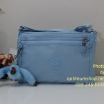 Kipling Diane Dot Pool Blue กระเป๋าสะพายใบเล็ก ช่องเยอะ แยกจัดเก็บ ขนาด L9.5 x H 6.2 W 2 นิ้ว