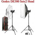 DE300 Set 300W X2 Flash Godox Studio Kit ชุดแฟลชสตูดิโอ