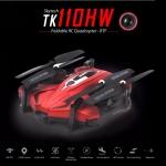 โดรนติดกล้อง tk110 mavic วาดเส้นทางการบินได้ WiFi FPV 720P HD พร้อมระบบถ่ายทอดสดแบบ Realtime(มีระบบ ล็อกความสูง) สีแดง