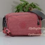 Kipling Reth Blush Pink C กระเป๋าสะพาย หลายช่องซิป จุมาก น่าใช้ ขนาด 27 L x 17.5 H x 15 W cm