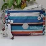 Kipling Diane On The Deck Stripe กระเป๋าสะพายใบเล็ก ช่องเยอะ แยกจัดเก็บ ขนาด L9.5 x H 6.2 W 2 นิ้ว