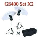 GS400 Set 400W X2 Flash Godox Studio Kit ชุดแฟลชสตูดิโอ400วัตต์