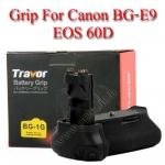 Travor แบตเตอรี่กริ๊ป BG-1G Battery Grip for Canon BG-E9 60D
