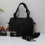 Kipling Keeya S Black Leaf กระเป๋าใบเล็ก หิ้วได้ สะพายได้ ขนาด 20 W x 15.5 H x 11.5 D cm Small