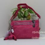 Kipling Diane Vibrant Pink กระเป๋าสะพายใบเล็ก ช่องเยอะ แยกจัดเก็บ ขนาด L9.5 x H 6.2 W 2 นิ้ว