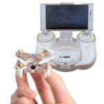 โดรนติดกล้อง จิ๋ว drone มีกล้องความละเอียดสูง ถ่ายรูปและวีดีโอได้ ควบคุมผ่านมือถือใช้งานผ่านแอพได้และมีรึโมทให้เล่นสนุกยิ่งขึ้น สีทอง รุ่น Cheerson CX10WD-TX gold