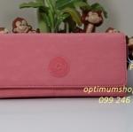Kipling Brownie Shell Pink กระเป๋าสตางค์ใบยาว ขนาด 19 L x 10 H x 3 W cm