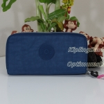 Kipling Uzario Jazzy Blue เป็นกระเป๋าสตางค์ใบยาวแบบ 2 ซิปรอบ ขนาด 10 L x 18.5 H x 3.5 W cm