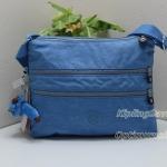 Kipling Alvar Blue Skies กระเป๋าสะพายข้าง หลายช่องซิป ขนาด L13 x H 10 x D 1.75 นิ้ว