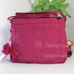 Kipling Moyelle Strawbery Ice ชมพูอมแดง กระเป๋าสะพายน่ารัก ขนาด 25 L x 18 H x 7 W cm
