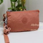 Kipling Creativity XL Neon Peach กระเป๋าอเนกประสงค์ 3 ช่อง และ 2ช่องเล็ก ขนาด L21 x H 13 x D 6 cm