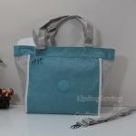 Kipling New Shopper S Starlight Blue กระเป๋าช็อปปิ้ง ใบใหญ่ เปิดง่าย ขนาด 42 L x 32 H x 13 W cm