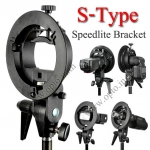 Stand S S-Type DSLR speedlite Flash Bracket Bowens Mount ขายึดแฟลชหัวค้อน