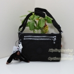 Kipling Diane Black กระเป๋าสะพายใบเล็ก ช่องเยอะ แยกจัดเก็บ ขนาด L9.5 x H 6.2 W 2 นิ้ว