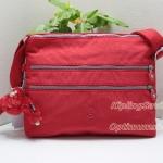 Limited Kipling Alvar Candy Red กระเป๋าสะพายข้าง หลายช่องซิป ขนาด L13 x H 10 x D 1.75 นิ้ว