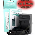 Home + CarBattery Charger For Canon NB-10L