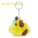 Kipling Baby Monkey Keychain พวงกุญแจลิงแม่ลูก สี Pineapple ขนาด 2x5x1 นิ้ว