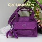 Kipling Star S Purple Dahlia กระเป๋าหิ้วกุ๊กกิ๊ก หรือสะพายน่ารัก ขนาด L8.5 x H 7 X 3.5 นิ้ว
