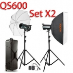 QS600 Set 600W X2 Professional Flash Godox Studio Kit ชุดแฟลชสตูดิโอ