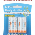 BPI AAx4 2400mAh Recharger Self Discharger Battery Use1000Time ถ่านAA4ก้อนเก็บประจุได้นาน