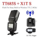 TT685S Godox Flash Speedlight for Sony TTL + TTL Wireless Trigger X1T-S TT685 แฟลชหัวค้อนโซนี่