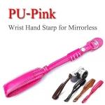 PU-Pink Camera Wrist Hand Strap for Mirrorless สายคล้องข้อมือกล้องสายหนัง(สีชมพู)