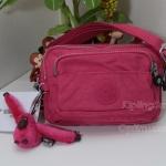Kipling Merryl หรือ ชื่อเดิม Multiple Vibrant Pink กระเป๋าคาดเอว หรือสะพายน่ารัก ขนาด L7.75 x H 5 X L3 นิ้ว