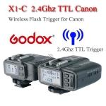 Godox X1-C Auto TTL 2.4Ghz Wireless Trigger for Canon Flash speedlite ตัวสั่งงานแฟลชไร้สายแบบออโต้