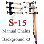 Manual 3Chain Background Stand Set Backdrop S-15